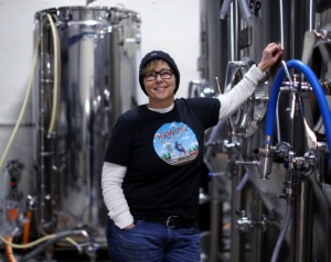 <strong>Hampline Brewing principal Martha Hample poses for a portrait next to her brewing equipment Jan. 30, 2020.</strong> (Patrick Lantrip/Daily Memphian)