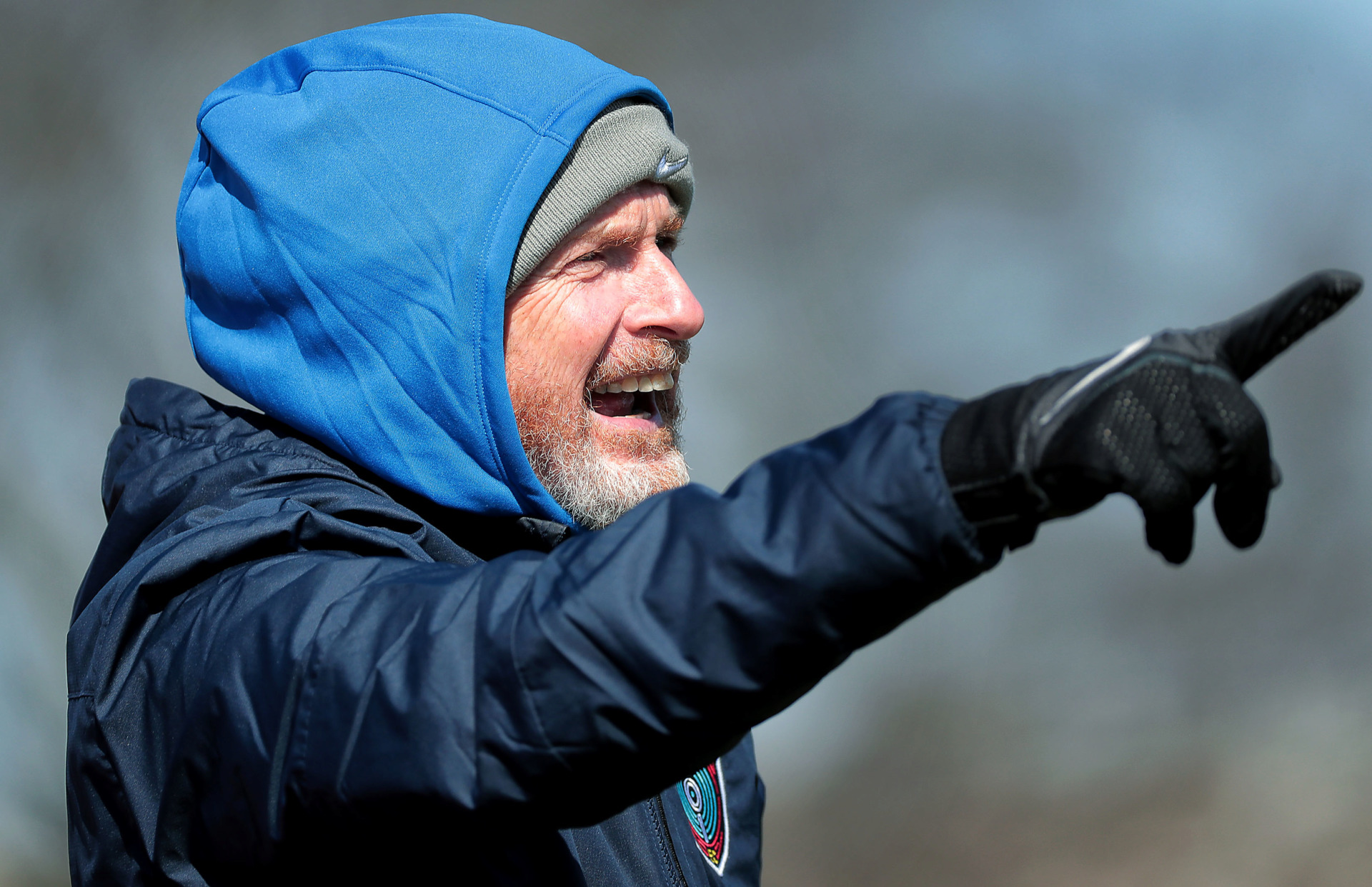 <strong>Memphis 901 FC Head Coach Tim Mulqueen directs his team during an exhibition game against the University of Memphis soccer team at the U of M south campus on Feb. 9, 2019.</strong> (Jim Weber/Daily Memphian)