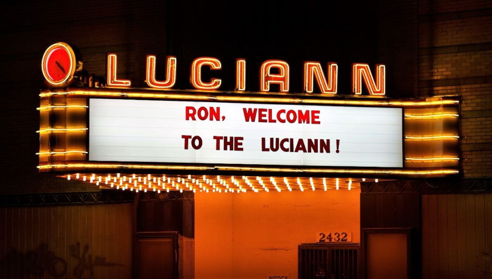 <strong>The five-month project to restore the 82-year-old marquee of the Luciann Building climaxed Thursday night when the sign was turned on.</strong> (Tom Bailey/Daily Memphian)