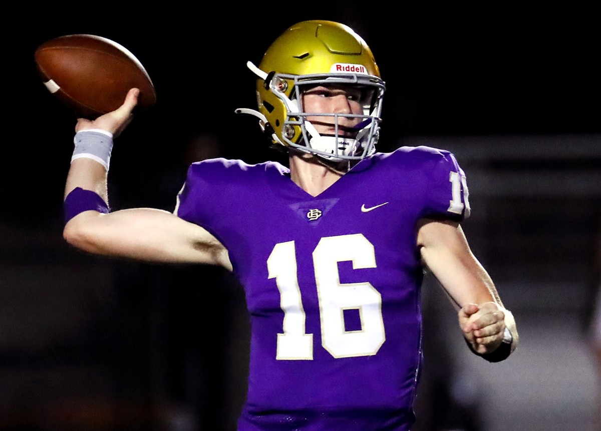 <strong>CBHS quarterback Jack McLaughlin (16) passes the ball during the Sept. 17 game against Briarcrest.</strong> (Patrick Lantrip/Daily Memphian)