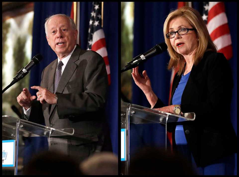 <strong>Phil Bredesen and Marsha Blackburn met for their first U.S. Senate debate on Tuesday, Sept. 25,</strong><span>&nbsp;</span><strong>at Cumberland University in Lebanon, Tennessee.&nbsp;</strong>(File photo)