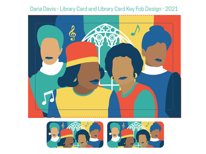 <strong>The winning submission in the adult category in the Black history library card contest, by Daria Davis, celebrates&nbsp;Mary Church Terrell, &nbsp;Ida B. Wells, &nbsp;Cornelia Crenshaw and Maxine Smith.</strong> (Submitted)