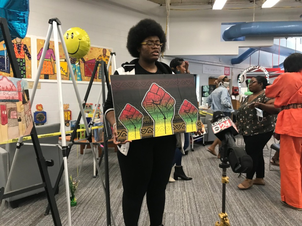 <strong>Rachael Douglass, 17, created the winning entry in the Black history library card contest, in the&nbsp;age 10-17 category.</strong> (Submitted)