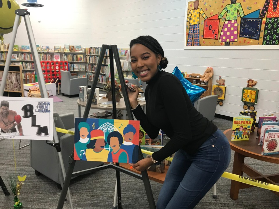 <strong>Daria Davis is the winner in the adult category of the Black history library card contest.</strong> (Submitted)