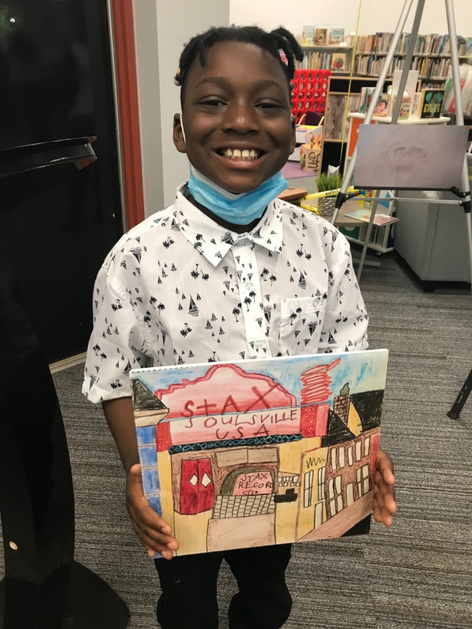 <strong>Ryan Garnett is the first-place winner in the Black history library card contest, in the 9-and-under category.</strong> (Submitted)