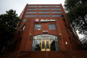 <strong>The Methodist Healthcare administration building at the corner of Union Avenue and Bellevue Boulevard on Oct. 15, 2020.</strong> (Patrick Lantrip/Daily Memphian)