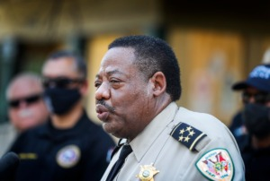 <strong>&ldquo;Every year we&rsquo;ve reduced crime in unincorporated Shelby County,&rdquo; Shelby County Sheriff Floyd Bonner (shown in a file photo) told a group of supporters Wednesday, Sept. 22, as he opened his re-election campaign.</strong> (Mark Weber/Daily Memphian)