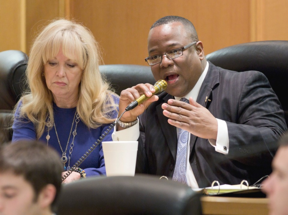 <strong>&ldquo;At some point we have to come together as a people and really evaluate the state of our culture,&rdquo; said state Rep. Antonio Parkinson, right, seen here in 2016.</strong> (AP file)