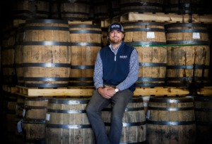 <strong>B.R. Distilling Company Chief Executive Officer McCauley Williams sits among aging barrels.</strong> (Mark Weber/The Daily Memphian)