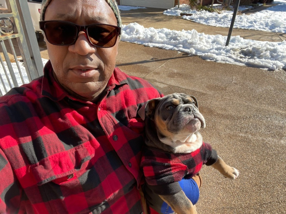 <strong>Pastor Keith Norman and his English bulldog Kobe.&nbsp;Kobe is an informal therapy dog.&nbsp;</strong>(Submitted)