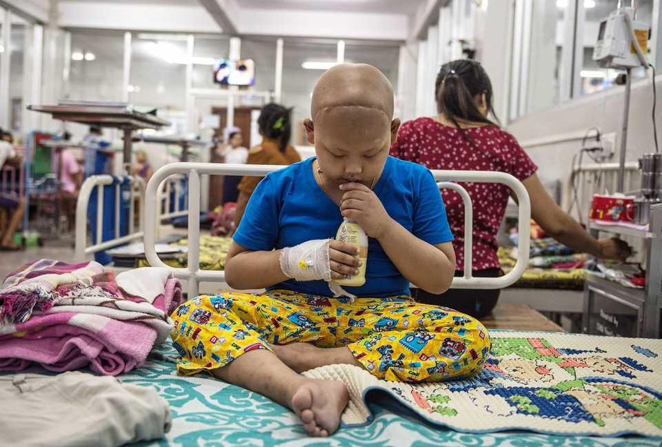 <strong>A young patient at Yangon Children's Hospital in Yangon, Myanmar.</strong> (Photo courtesy of Scott A. Woodward)