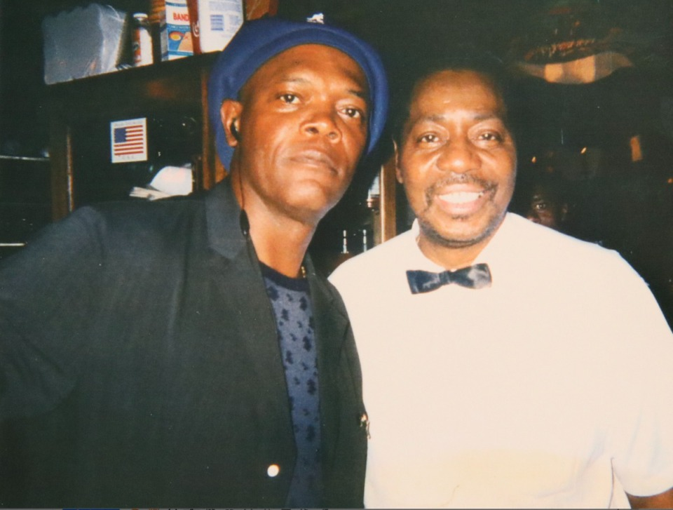 <strong>Samuel L. Jackson is one of the many celebrities Percy Norris served over the years at the Rendezvous.</strong> (Courtesy Jack Lofton)