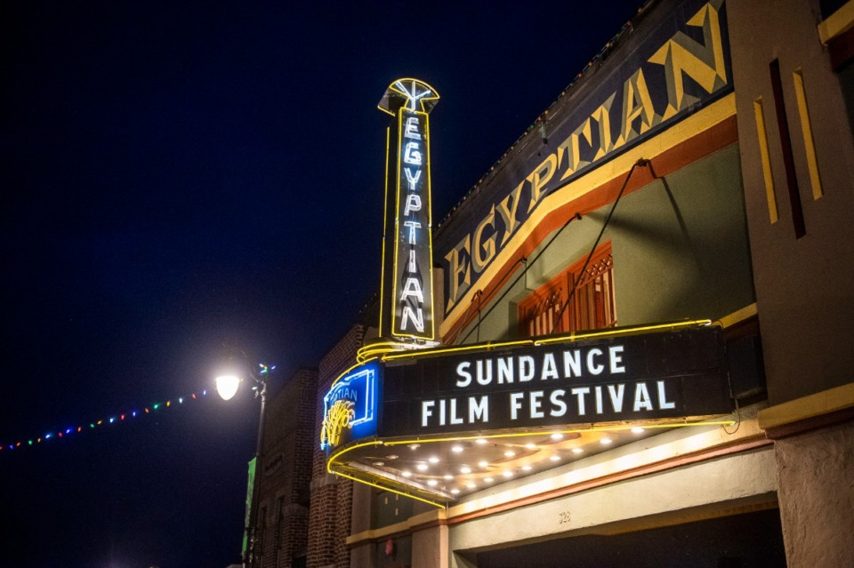 <strong>The marquee of the Egyptian Theatre promotes the 2020 Sundance Film Festival in Park City, Utah on Jan. 28, 2020. The 2022 festival will host satellite screenings across the U.S., including in Memphis.</strong> (Photo by Arthur Mola/Invision/AP, File)