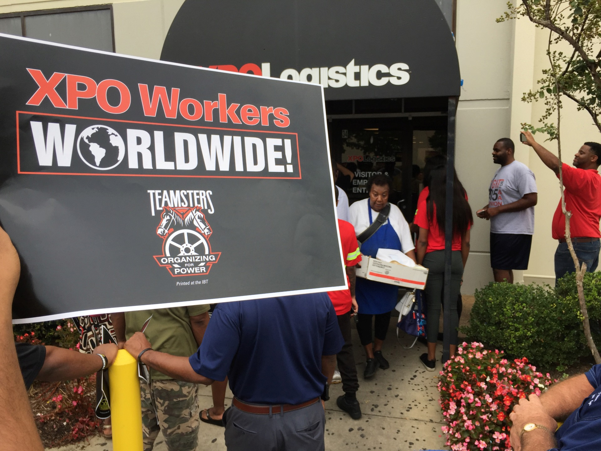 <strong>Community activists joined XPO Logistics workers at an Oct. 1 protest at a warehouse in southeast Memphis.&nbsp;</strong><span>(Wayne Risher/Daily Memphian file)</span>