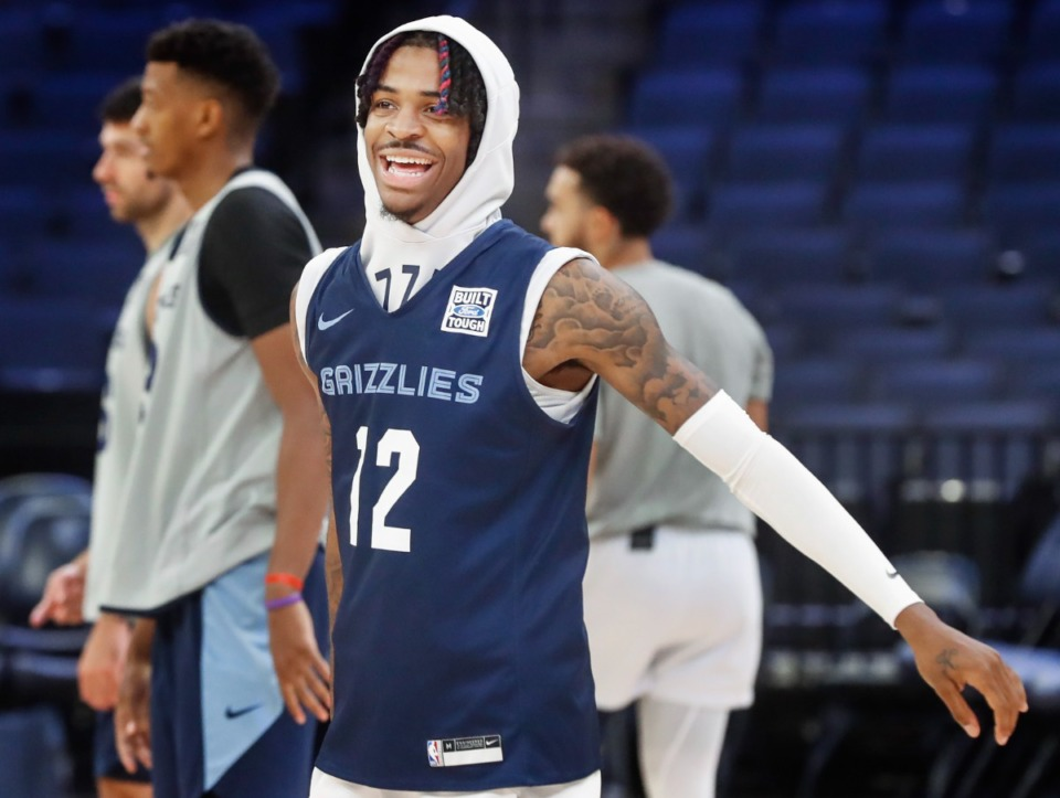 <strong>Memphis Grizzlies guard Ja Morant during open practice on Sunday, Oct. 3, 2021.</strong> (Mark Weber/The Daily Memphian)