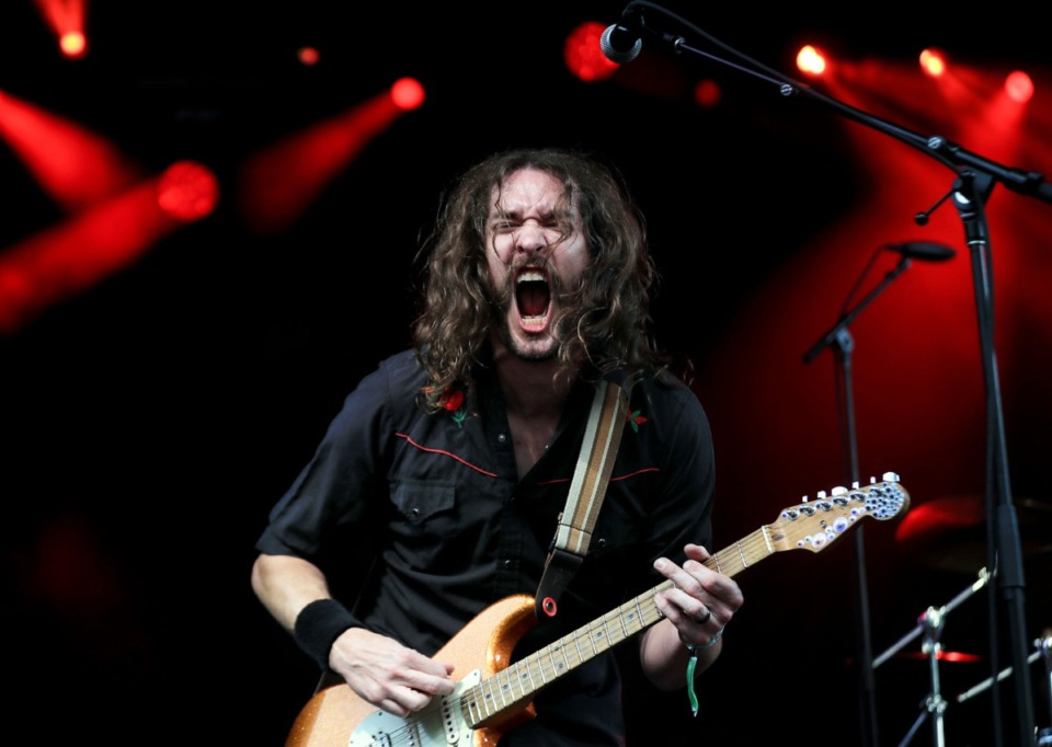 <strong>Shawn Eckles of Andy Frasco &amp; The U.N. performs at the Mempho Music Festival at the Memphis Botanic Garden&rsquo;s Radians Amphitheater Oct. 2, 2021.</strong> (Patrick Lantrip/Daily Memphian)