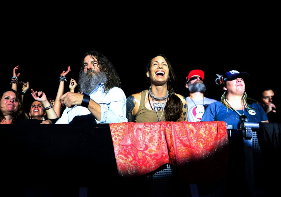 <strong>Audience members sing along to Widespread Panic at the Mempho Music Festival at the Memphis Botanic Garden&rsquo;s Radians Amphitheater Oct. 2, 2021.</strong> (Patrick Lantrip/Daily Memphian)