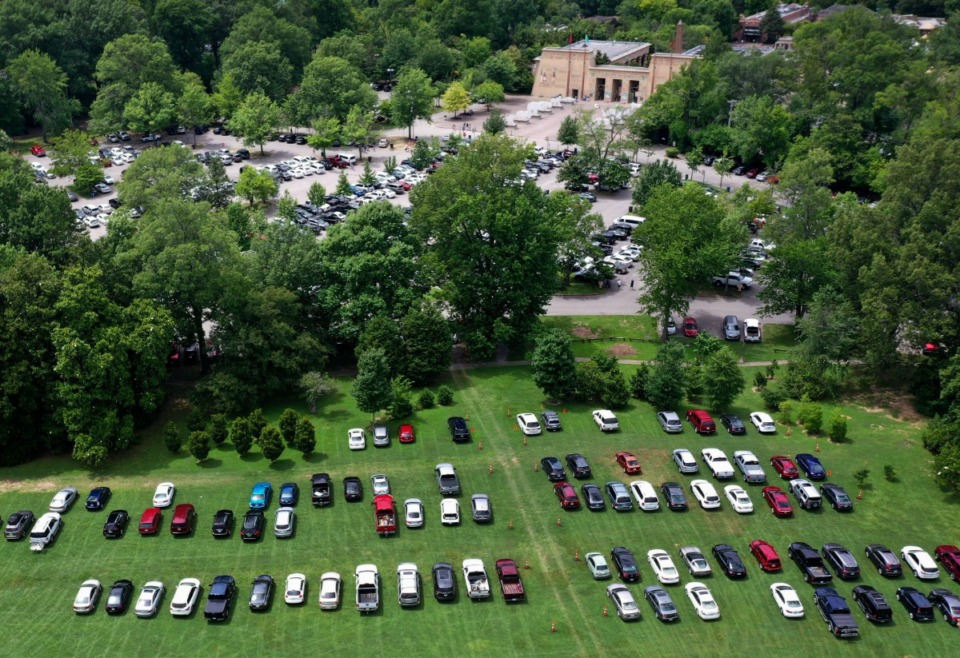<strong>The need for overflow zoo parking onto the Overton Park Greensward due to a number of events in October prompted the city and the zoo to announce Friday, Oct. 1, that the original parking plan is back on track.</strong> (Jim Weber/Daily Memphian file)