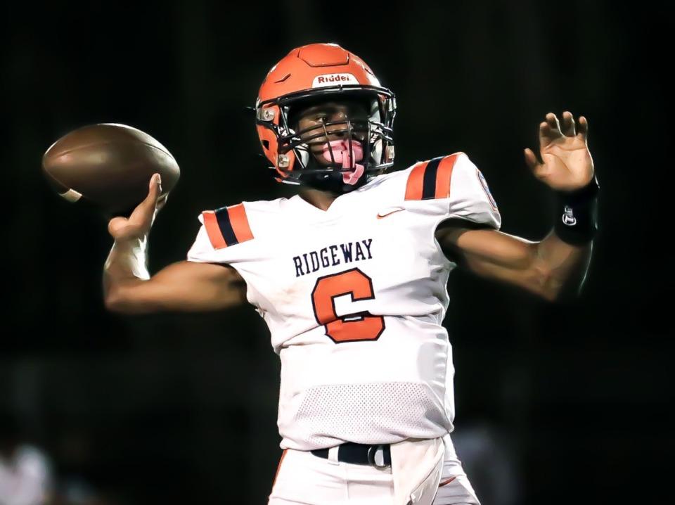 <strong>Ridgeway High School quarterback Jeremiah Lucas (6) passes against Kirby High School on Oct. 8.</strong> (Patrick Lantrip/Daily Memphian)