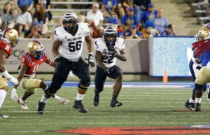 <strong>Tigers running back Brandon Thomas (22) makes a good run during against&nbsp; Tulsa on Saturday, Oct. 9.</strong> (Joey Johnson/Special to the Daily Memphian)