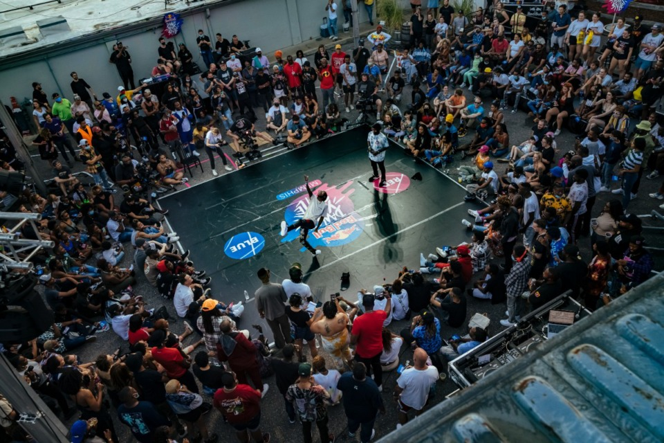 <strong>Dancers battled Sunday for judges and audience at Railgarten for Red Bull's Dance Your Style contest.</strong> (Ziggy Mack/Special to The Daily Memphian)