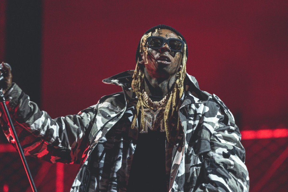 <strong>Lil Wayne performs at the UPROAR Hip-Hop Festival in August at the Los Angeles Memorial Coliseum.</strong>&nbsp;(Photo by Willy Sanjuan/Invision/AP)