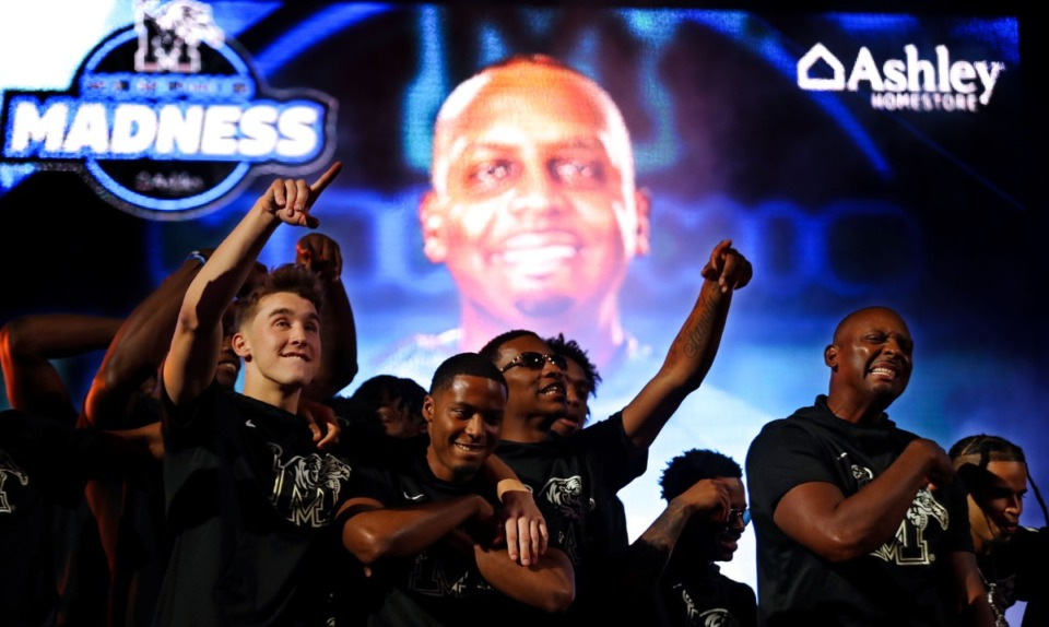 <strong>University of Memphis coach Penny Hardaway is introduced at Memphis Madness in FedExForum Oct. 13, 2021.</strong> (Patrick Lantrip/Daily Memphian)