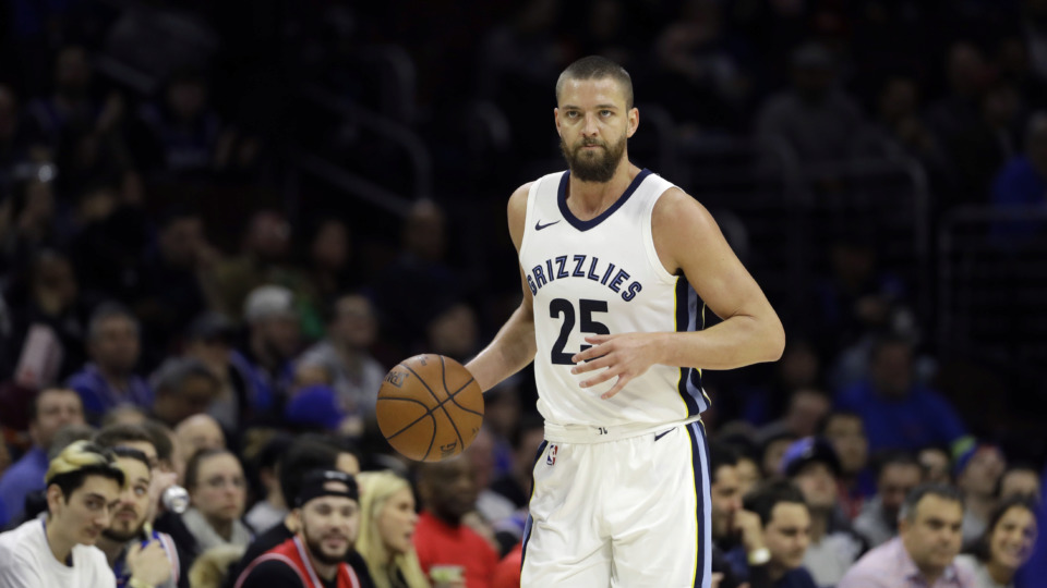 <span><strong>Memphis Grizzlies' Chandler Parsons in action during an NBA basketball game against the Philadelphia 76ers, Wednesday, March 21, 2018, in Philadelphia.</strong> (AP Photo/Matt Slocum)</span>