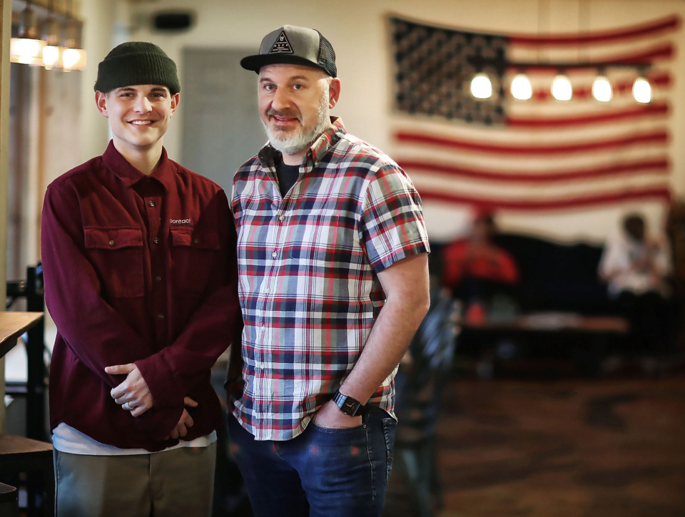 <strong>Zac Roberts (left) and Mark Horrocks along with Matthew Wrage (not pictured) transformed an industrial warehouse into an indoor skatepark called Society Skatepark &amp; Coffee, with a retail shop and cafe. The ramps were salvaged from the Hazard County Skatepark near Atlanta.</strong> (Jim Weber/Daily Memphian)
