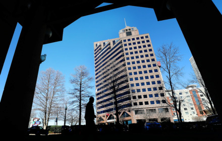 <strong>Raymond James & Associates has plans to move from its Downtown office tower, the namesake and anchor for the 21-story building, to East Memphis' Ridgeway Center.</strong> (Jim Weber/Daily Memphian)