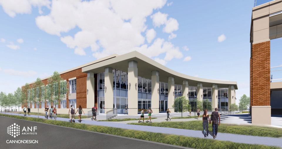 <strong>A $25 million building permit has been filed for a new 80,000-square-foot recreation center at the University of Memphis. The new facility will be located on Southern Avenue, adjacent to the existing Larry O. Finch recreation center which will remain, and the&nbsp;new pedestrian land bridge that is expected to be complete in August.&nbsp;</strong>(Rendering courtesy of ANF Architects)