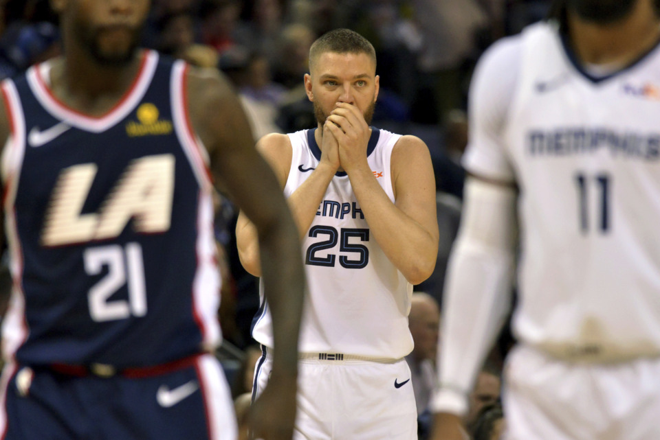<span><strong>Memphis Grizzlies forward Chandler Parsons (25) plays in the first half of an NBA basketball game against the Los Angeles Clippers Friday, Feb. 22, 2019, in Memphis, Tenn.</strong> (AP Photo/Brandon Dill)</span>