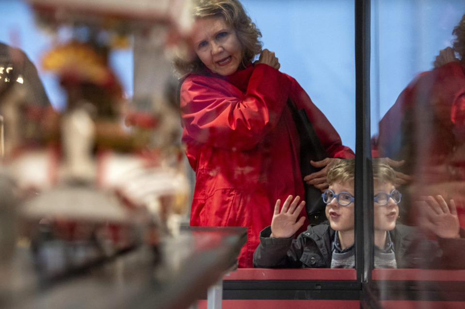 <strong>Jace Wright, 4, presses against the glass as he and his grandmother Jetty Wright watch the newly refurbished Clyde Parke Circus during community opening day at the Memphis Pink Palace Museum on March 3, 2019. The miniature circus is on the second floor of the mansion, which recently opened to the public for the first time since 1978.</strong> (Brandon Dill/Special to The Daily Memphian)