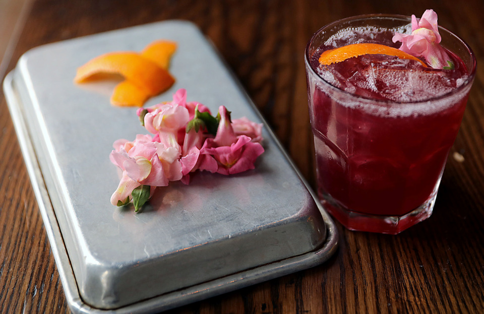 <strong>A red wine vodka-based cocktail dubbed &ldquo;Yummy as Hell&rdquo; created by Second Line&rsquo;s Sam Hendricks.</strong> (Patrick Lantrip/Daily Memphian)