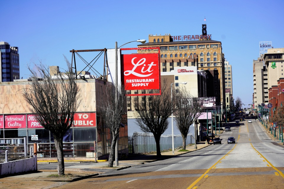 <strong>Union Row developers closed Wednesday on the purchase of 309 Union, where Lit sells restaurant and kitchen supplies.</strong> (Tom Bailey/Daily Memphian)