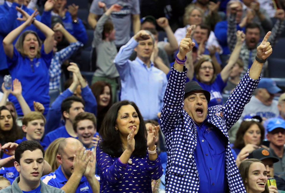 <strong>University of Memphis fans cheer during a game against the Tulsa Golden Hurricane at FedExForum on Saturday, March 9, 2019.&nbsp;</strong>(Karen Pulfer Focht/Special to The Daily Memphian)