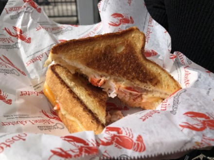 <strong>Texas toast, lobster and plenty of cheese team up for a fancy grilled cheese sandwich.</strong> (Jennifer Biggs/Daily Memphian)
