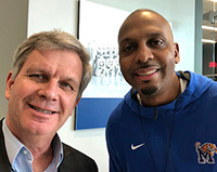 <strong>Geoff Calkins and<br />Penny Hardaway</strong>