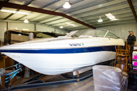 "<strong> Estate ""toys"" being auctioned include a boat, RV and Jeep. </strong>(Photo courtesy of John Roebuck Auctions)"