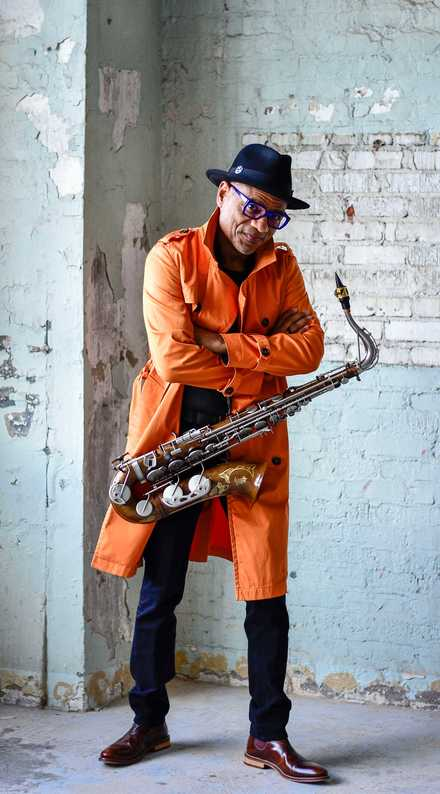 "<div><span style=""font-family: Calibri,sans-serif; font-size: small;""><span><strong>Grammy-winning saxophonist Kirk Whalum's first Kafe Kirk is Sunday, Oct. 7, at the Halloran Centre. The Sunday jazz series will feature musical collaborations and dialogue with special guest artists. Sunday's special guest artist is jazz vocalist Lindsey Webster.</strong> (Photo courtesy of Collins Dillard)</span></span></div>"