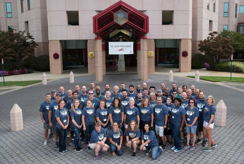 <strong>Chili's has supported the St. Jude mission since 2002 in a variety of ways, raising approximately $68 million for St. Jude to date. Each year, Chili&rsquo;s hosts the Chili&rsquo;s Cookout to feed St. Jude patients, families and staff and kick off the Create-A-Pepper campaign, which allows its guests to color a Chili pepper for a $1 donation to St. Jude.</strong> (Mike Brown, ALSAC/St. Jude Photography)
