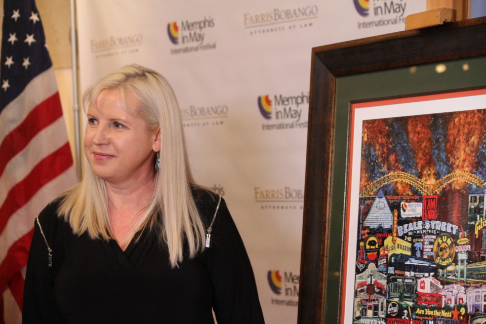 <strong>Evelina Dillon created the art for the 2019 Memphis in May Fine Arts poster.</strong> (Elle Perry/Daily Memphian)