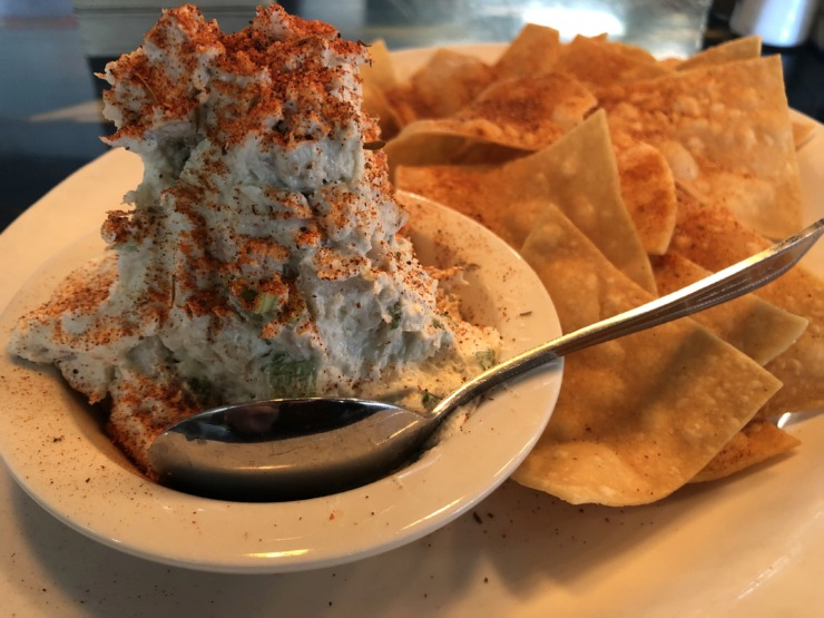<strong>Soul Fish serves smoked catfish dip with housemade chips.</strong> (Jennifer Biggs/Daily Memphian)