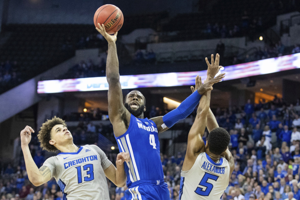 <strong>The Memphis Tigers were eliminated from the NIT by Creighton Friday night. But the game felt like less an ending than the end of a beginning.</strong> (Brendan Sullivan/Omaha World-Herald via AP)