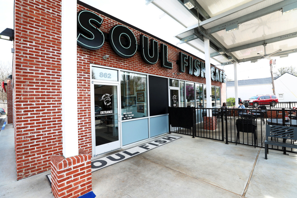 <strong>Soul Fish on Cooper Street remains a popular foodie destination for tourists and locals alike. The Southern-style restaurant recently opened an Oxford location and plans to open one in Cordova this June.&nbsp;</strong>(Houston Cofield/Daily Memphian)
