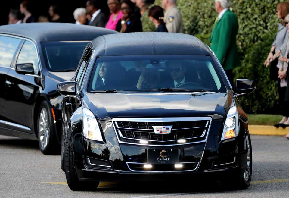 "<p class=""p1""><strong>Family members and friends leave Christ United Methodist Church Thursday afternoon following the funeral service for Phil Trenary.</strong> <span class=""s1"">(Houston Cofield/Daily Memphian)</span>"