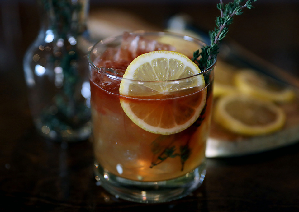 <strong>Strong rye, honey gastrique and a healthy dose of bitters make Nick Lumpkin's Rye Time cocktail a fun riff on a whiskey sour</strong>. (Patrick Lantrip/Daily Memphian)