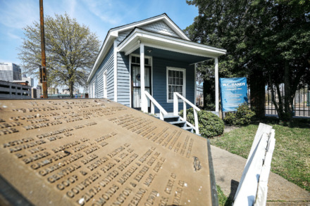 <strong>The W.C. Handy House at Fourth and Beale streets has sat vacant since the Downtown Memphis Commission forced Heritage Tours to leave in February.</strong> (Houston Cofield/Daily Memphian)