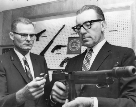 <span><strong>FBI special agent William H. Lawrence (left),&nbsp;pictured in 1965 with agent E. Hugo Winterrowd,&nbsp; recruited civil rights photographer&nbsp;Ernest Withers, who then collaborated with the bureau&nbsp;as a paid informant keeping watch over the civil rights movement.&nbsp;</strong>(Courtesy&nbsp;Preservation and Special Collections Department, University Libraries, University of Memphis &ndash; Press Scimitar collection)</span>