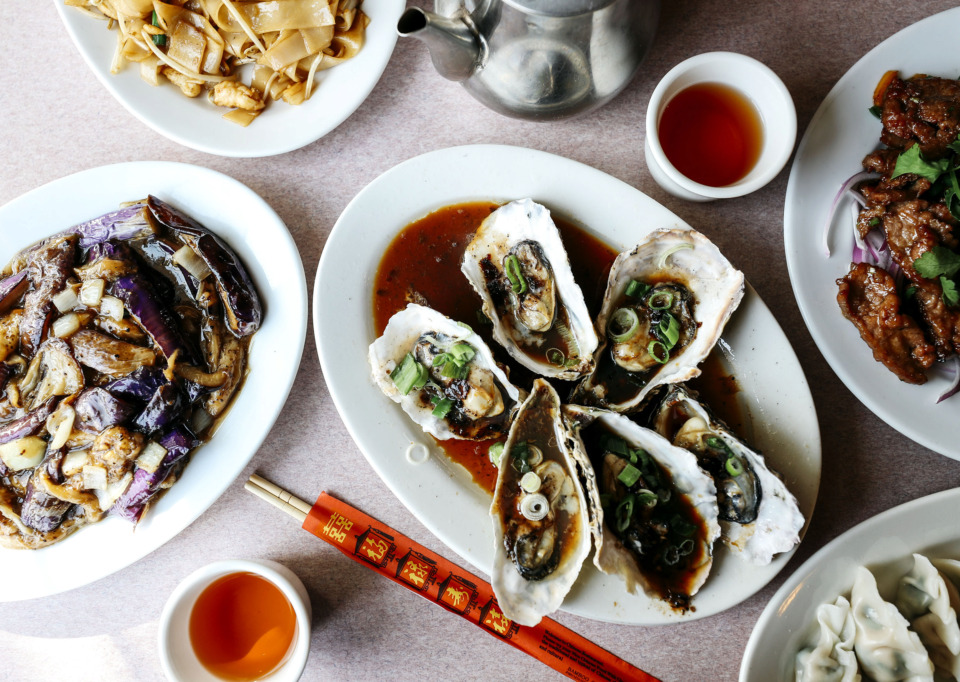 <strong>The steamed oysters on the half shell are one of the many delicious dishes available at New Asia. The Germantown restaurant opened its doors in 2005 and serves authentic Chinese food with original recipes by chef Yong Hu.</strong> (Houston Cofield/Daily Memphian)